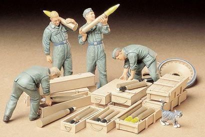 Tamiya German Tank Ammo-Loading Crew 1:35 Scale Military Miniatures plastic model Kit