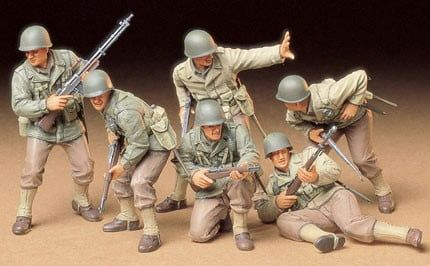 Tamiya 1:35 Scale US Army Assault Infantry Set
