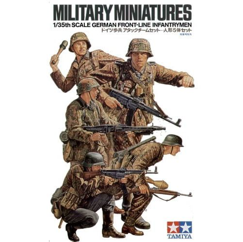 German Front-line Infantrymen 1:35 Scale Military Miniatures