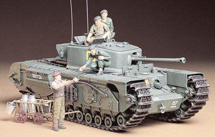 Tamiya British Infantry Tank Mk.IV Churchill Mk.VII Plastic Model Kit