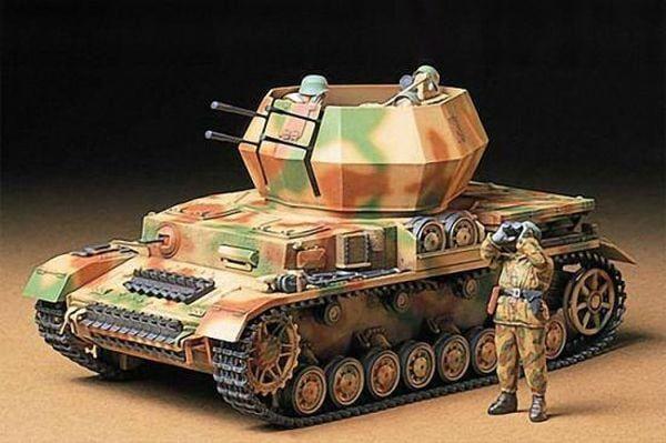 Tamiya German Flakpanzer IV Wirbelwind Detailed Plastic Model Kit