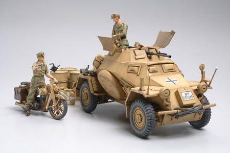 Tamiya German SDKFZ 222 Armoured Car High Quality 1:35 Scale Plastic Kit