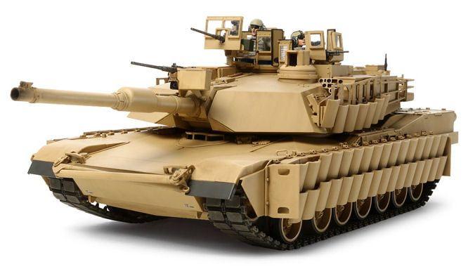 Tamiya US Main Battle Tank M1A2 Sep Abrams Tusk II Detailed 1:35 Scale Plastic Model Kit