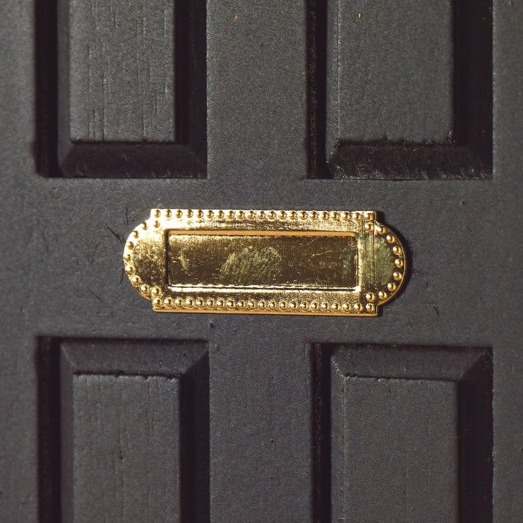 Brass Letter Box (non-opening)