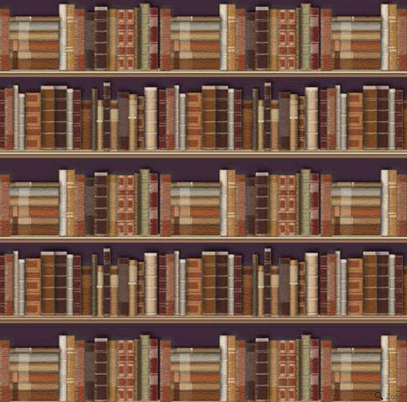 Traditional Bookcase Wallpaper 1:12 Scale for Dolls House