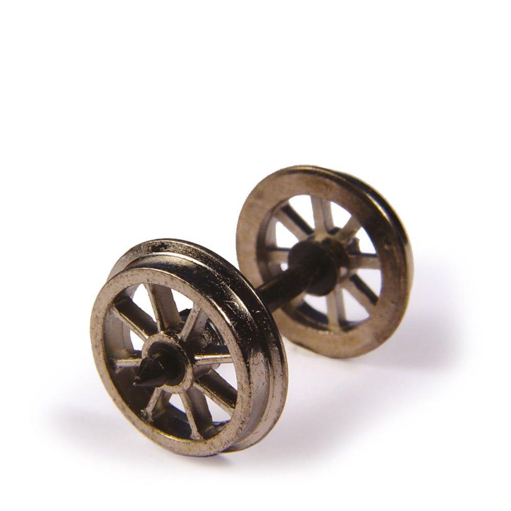 Branchline  Metal Spoked Wagon Wheels (x10) 36-014