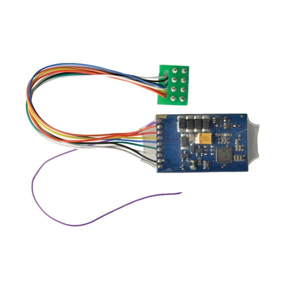 0.9 Amp 4 Function 8 Pin DCC Decoder featuring RailComPlus