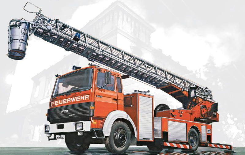 Italeri Iveco Magirus DLK26-12 Fire Ladder Truck