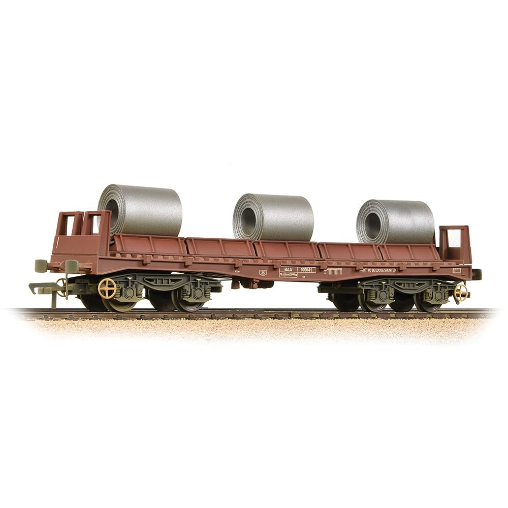 Branchline BAA Steel Carrier Wagon BR Brown with Coils - Weathered 38-353
