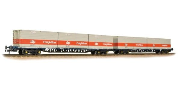 Branchline FGA BR Freightliner Outer Container Flats(x2) ISO Containers