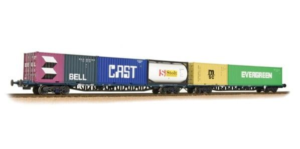 Branchline FGA BR Freightliner Outer Container Flats(x2) Maritime Conta