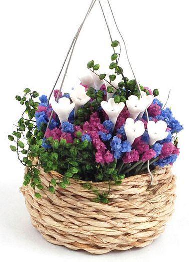 Blooming Summer Hanging Basket Garden