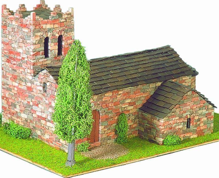 Domus Kits St Marti Vell Church 1 50 Scale Model Brick Kit