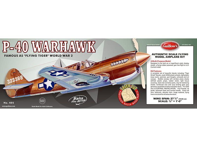Guillows P-40 Warhawk Model Kit