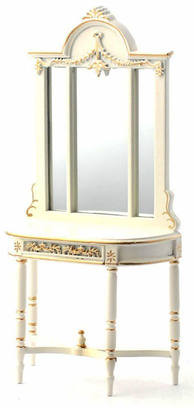 Hand-painted Table with Mirror Hall Furniture