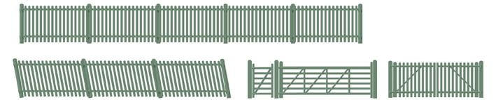 Peco Picket fencing green (inc. Gates & ramps)