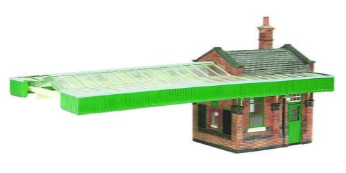 Branchline Great Central Station Booking Office W/Canopy Green & Cream