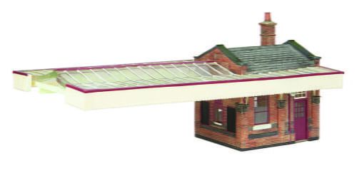 Branchline Great Central Station Booking Office W/Canopy Maroon & Cream
