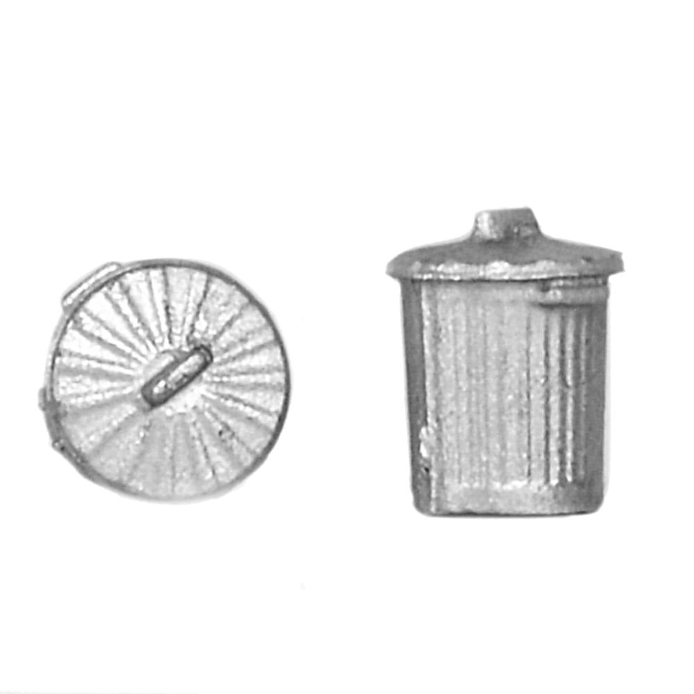 Branchline  Old Style Domestic Dustbins (x10) 44-522