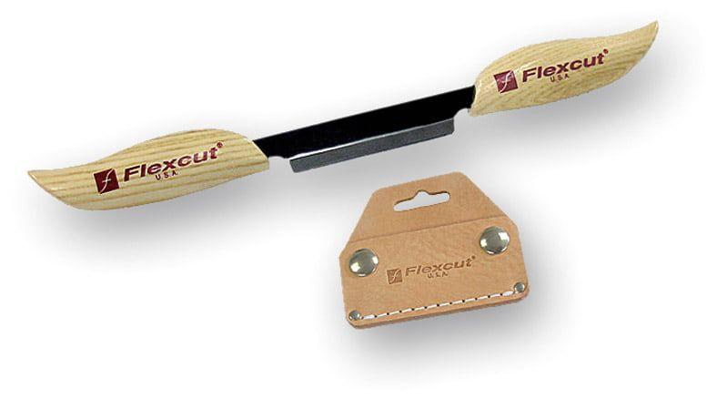 """Flexcut KN25 3"""" Draw Knife with Sheaf"""