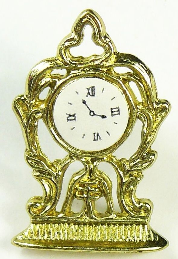 Ornate Louis style Gold Mantle Clock