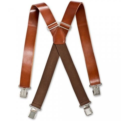 Brimarc Dark Brown Heavy Duty Leather Braces