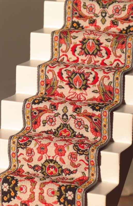 Red and Cream Stair Carpet