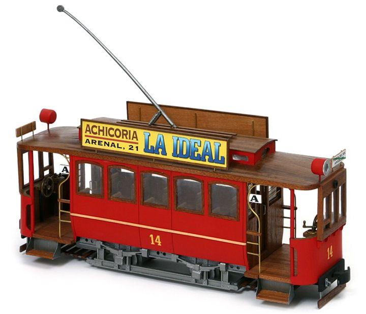 Occre Cibeles Travia Cangrejo Madrid Tram Detailed Wood and Metal Model Kit