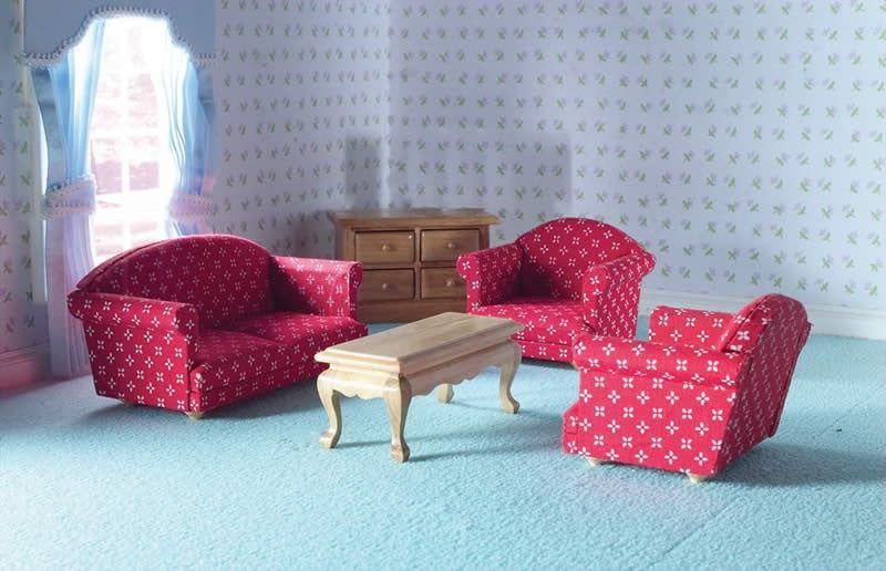 1:12 Scale Sitting Room Set (5 Pcs)