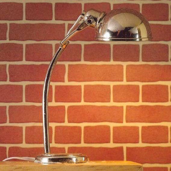 Directional Half-domed Table Lamp Silver for 1:12 Scale Dolls House