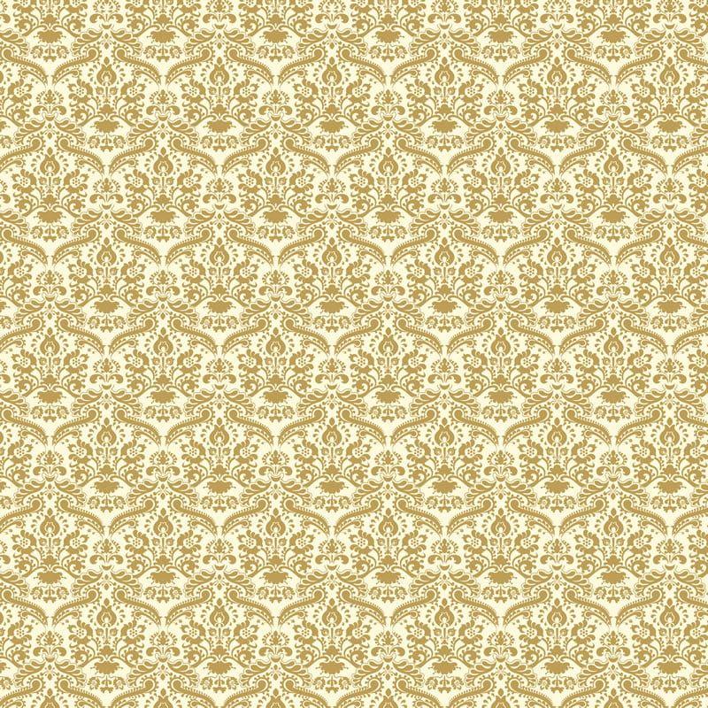 Gold Coloured Damask Wallpaper