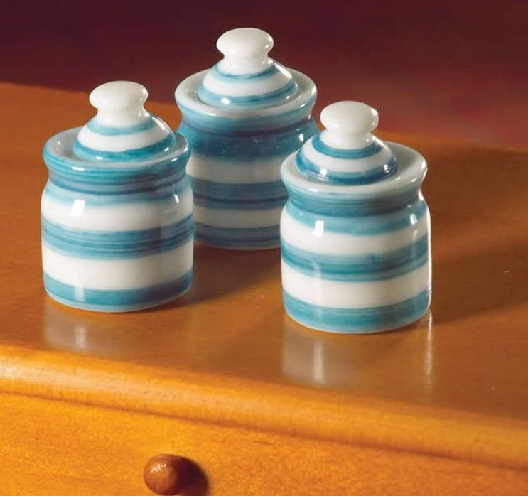 3 x Cornish Jars 12th Scale for Dolls House