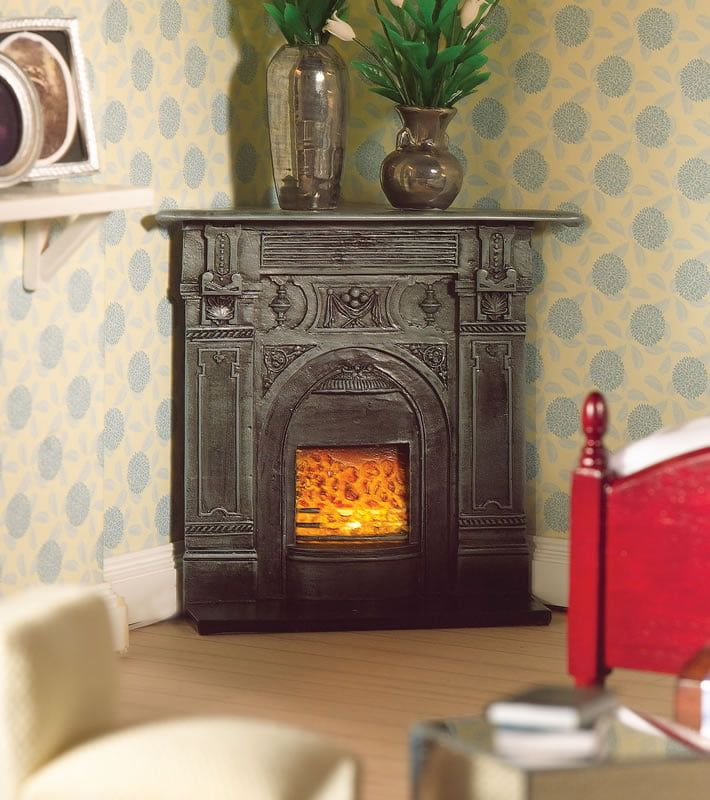 Black Corner Fireplace