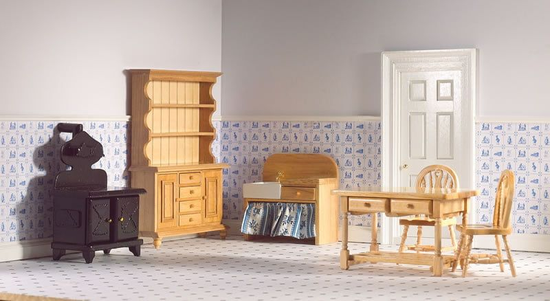 6 Piece Pine Kitchen Set