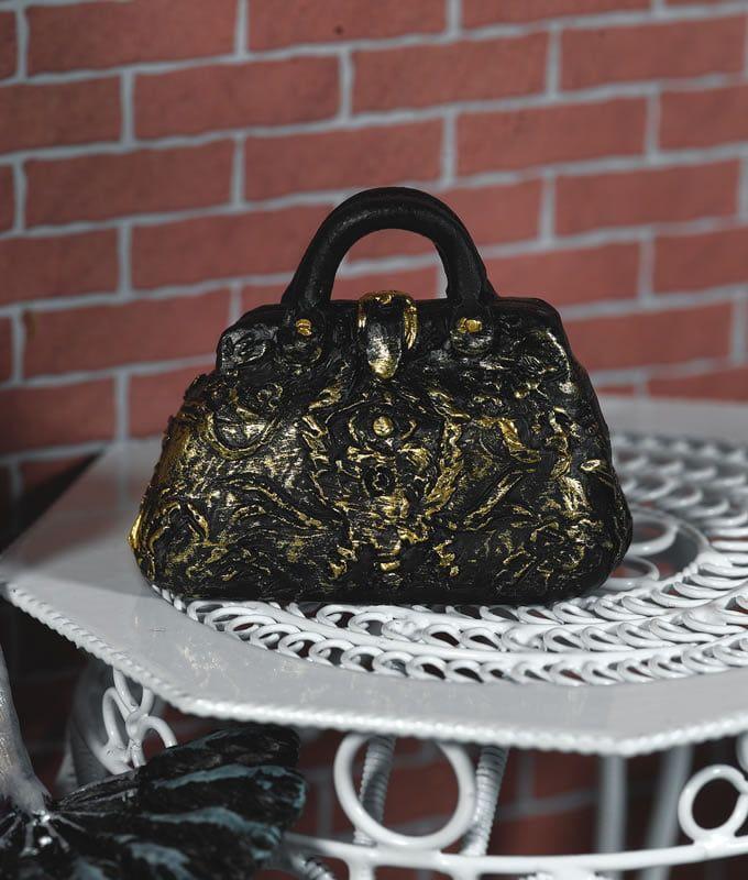 Black and Gold Carpet Bag