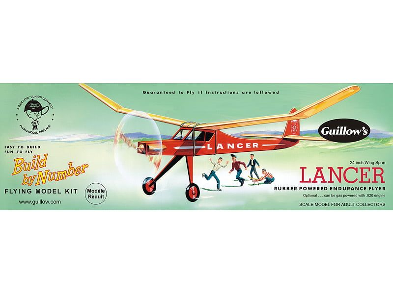 Guillows Lancer Build By Numbers Model Kit