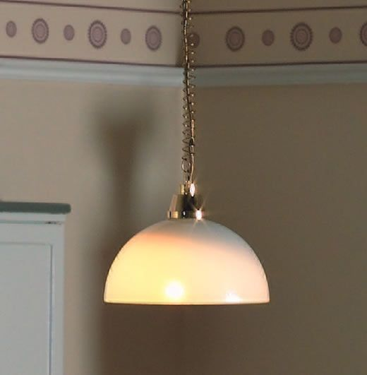 Rise and Fall Domed Ceiling Light 1:12 Scale by Dolls House Emporium