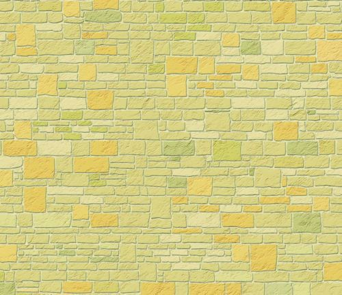 Yellow Cotswold Stone External 1:12 Scale Quality Dolls House Wallpaper