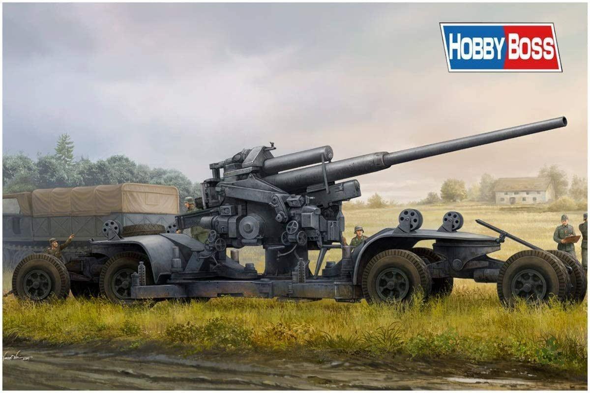Hobby Boss 1/35 Scale German Flak Gun Plastic Model Kit