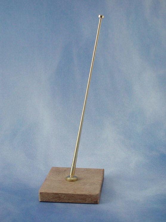 Angled Brass Flagstaffs