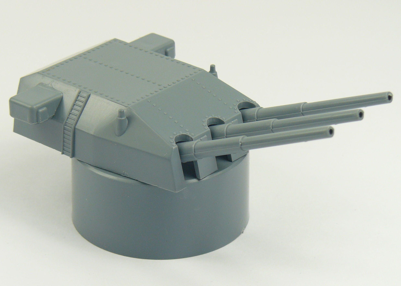 Triple Mount Turret Gun 280mm High Base