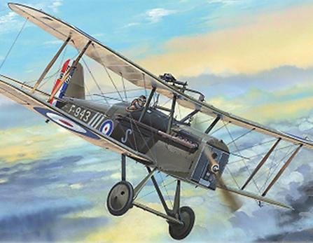 RAF S.E. 5A Biplane Fighter Plastic Model Aircraft