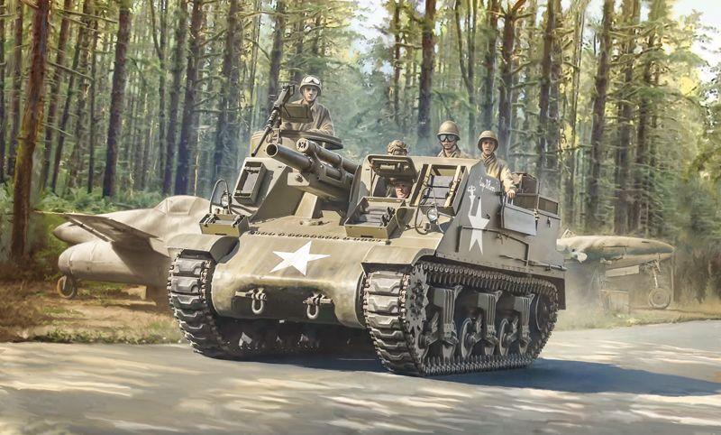 Italeri 1/35 M7 Priest Howitzer Motor Carriage