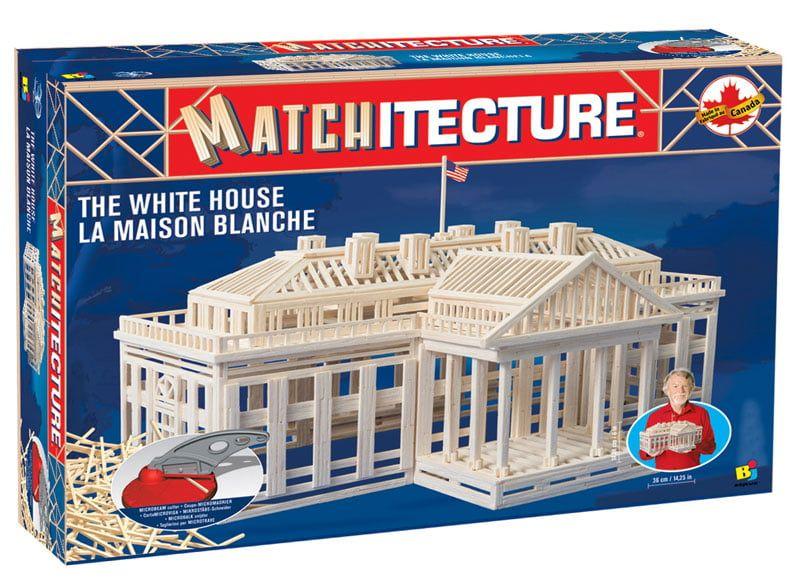 Matchitecture The White House Microbeam Matchstick Kit