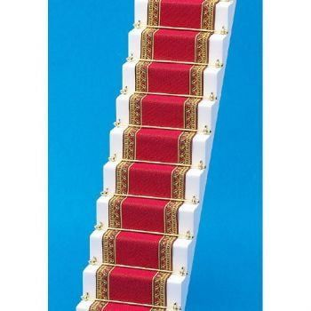 Red and Gold Edged Stair Carpet