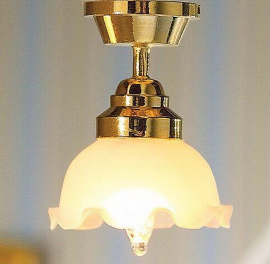 Large Tulip Ceiling Light 1 12 Scale for Dolls House