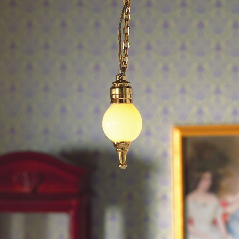 Hanging Ceiling Globe Silver
