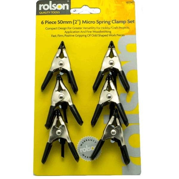6 Piece Micro Clamp Set