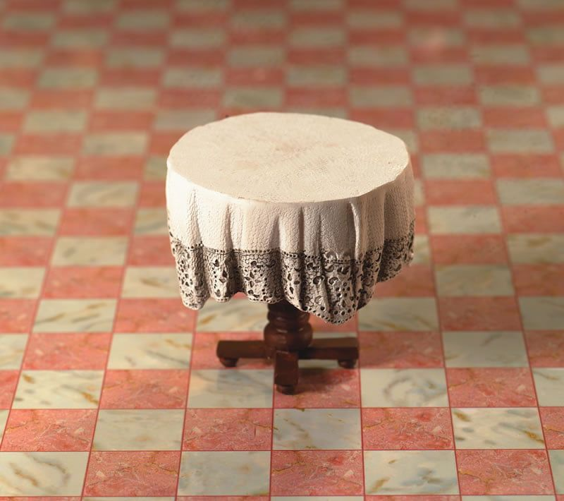 Small Table with Tablecloth