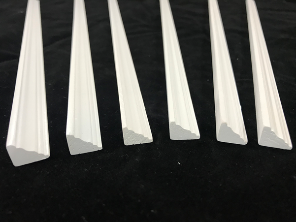 Cornice Painted White Pack of 6 for Dolls House